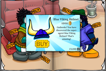 Club Penguin Blue Viking Helmet
