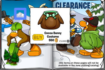 Club Penguin Cocoa Bunny Costume