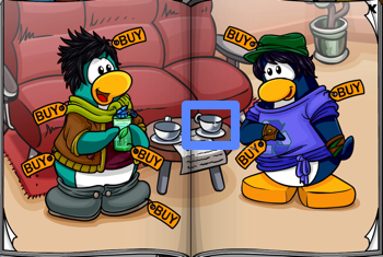 Club Penguin coffee cup