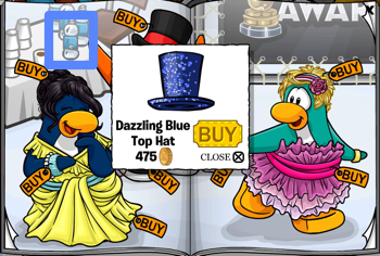 Club Penguin Dazzling Blue Top Hat