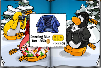 Club Penguin Dazzling Blue Tux