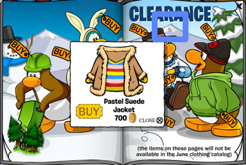 Club Penguin Pastel Suede Jacket