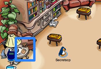Cream Soda Barrel Pin in the Book Room