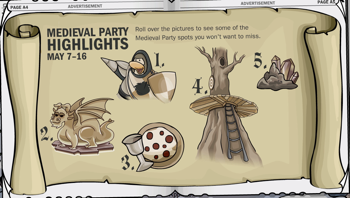 Club Penguin Medieval Party Highlights