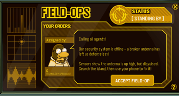 Club Penguin Field Ops Broken Antenna