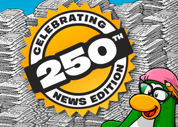 Club Penguin Times Issue 250 Celebration