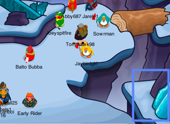 Club Penguin Mountain Expedition Secret Room Entrance