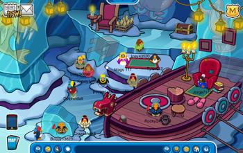 Secret Cave in Club Penguin
