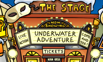 Underwater Adventure at the Club Penguin Stage