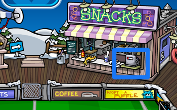 Club Penguin Snack Booth