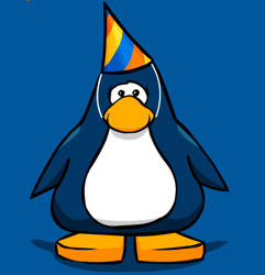 Club Penguin third year party hat