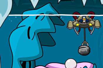 Club Penguin Aqua Grabber Giant Clam