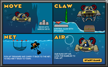 Club Penguin Aqua Grabber Instructions