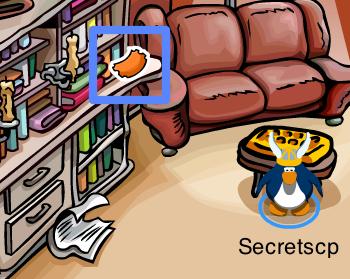 Club Penguin Fair Ticket in Book Room