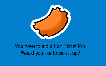 Club Penguin Fair Ticket Pin