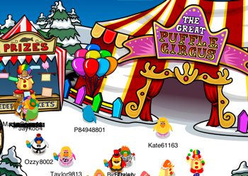Outside the Great Puffle Circus
