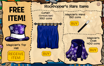 Club Penguin Rockhopper Items for September 2010
