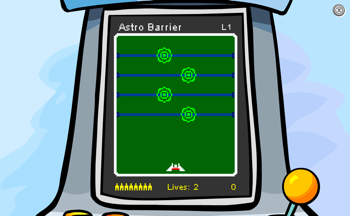 Club Penguin Astro Barrier Start