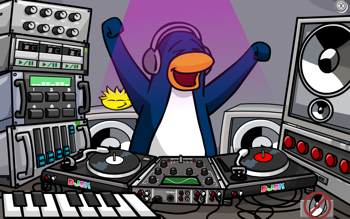 Club Penguin DJ3K with Yellow Puffle