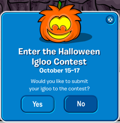 Club Penguin Halloween Igloo Contest