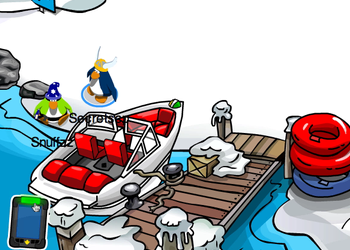 Club Penguin Field Ops 18 at the Dock
