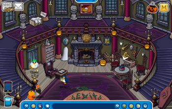 Club Penguin Haunted House Inside
