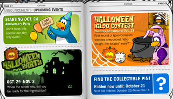 Club Penguin Upcoming Events