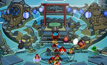 Club Penguin Card-Jitsu Water at the Dojo