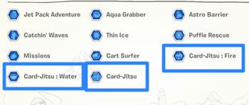 Card-Jitsu Stamps
