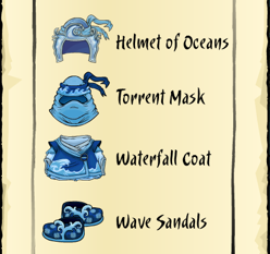 Club Penguin Card-Jitsu Water Clothes