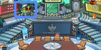 Club Penguin computer in EPF Command Room