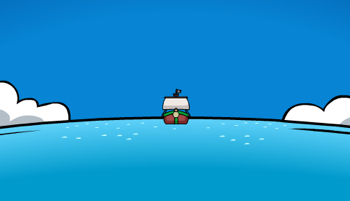Rockhopper arriving in Club Penguin