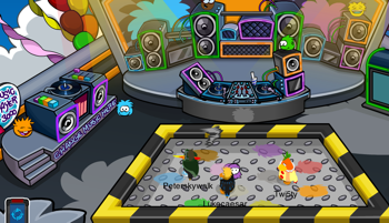 Club Penguin Puffle Party 2011 Rooftop