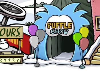 Club Penguin Puffle Show Entrance