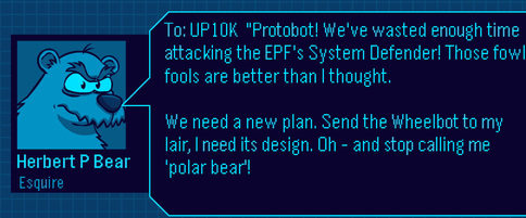 Club Penguin Herbert Message for Field Ops 34