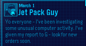 Club Penguin EPF Message from Jet Pack Guy