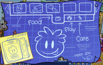 Club Penguin Puffle Construction Blueprint