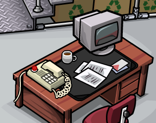 Club Penguin Recycling Plant Computer Desk