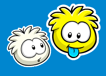 White and Yellow Puffle Pins