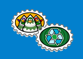 Club Penguin Earth Day Stamps