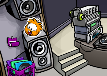 Club Penguin Orange Puffle Pin