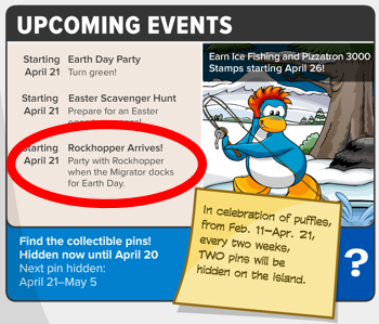 Rockhopper on Earth Day