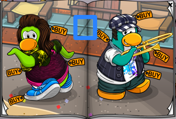 Club Penguin Blue Tile Floor