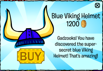 Club Penguin July 2011 - Blue Viking Helmet
