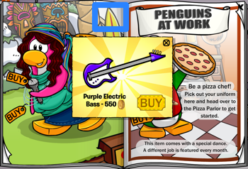 Club Penguin Catalog - Purple Electric Bass