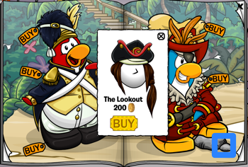 Club Penguin Lookout Wig - July 2011