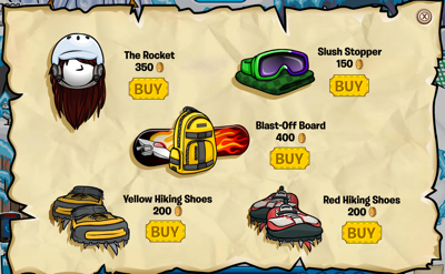 Club Penguin Great Snow Race Catalog