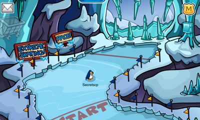 Club Penguin Great Snow Race - Ice Cavern