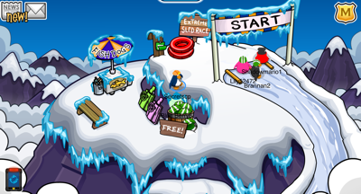 Club Penguin Great Snow Race - Mountain Top
