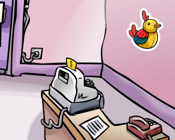 Tropical Bird Pin in Club Penguin